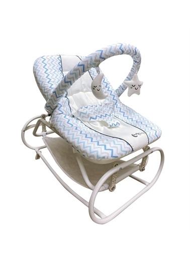 Aybaby Aybaby Line Ev Tipi Sallanır Lüks Anadizi Mavi